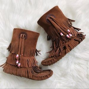 Steve Madden Moccasin boots with bead deta…